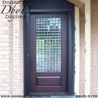 contemporary 1-lite leaded glass door
