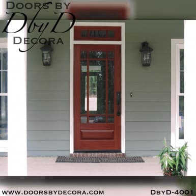 craftsman wood door, divided lite door with nine lites