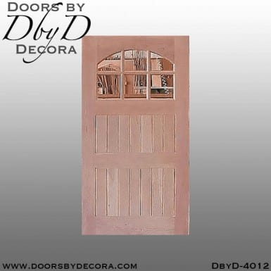 craftsman door with segment glass