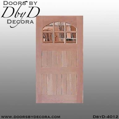 craftsman door with segment glass