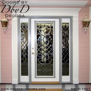 estate leaded beveled glass door