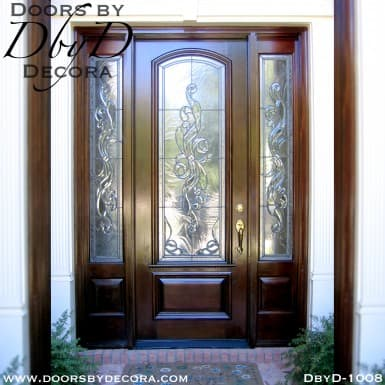 estate leaded glass door and sidelites