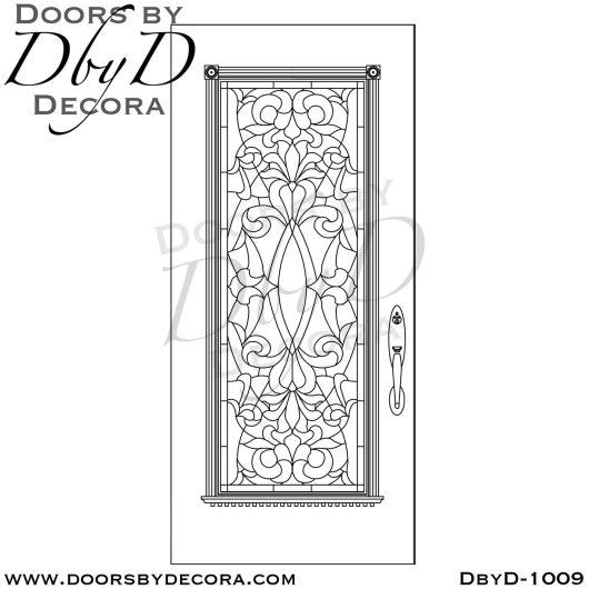estate leaded glass front door
