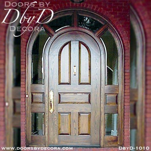 estate solid door with wraparound sidelites