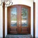 estate leaded glass double door