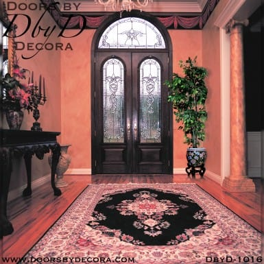 estate double doors and transom