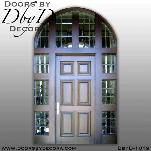 estate door sidelites and transom