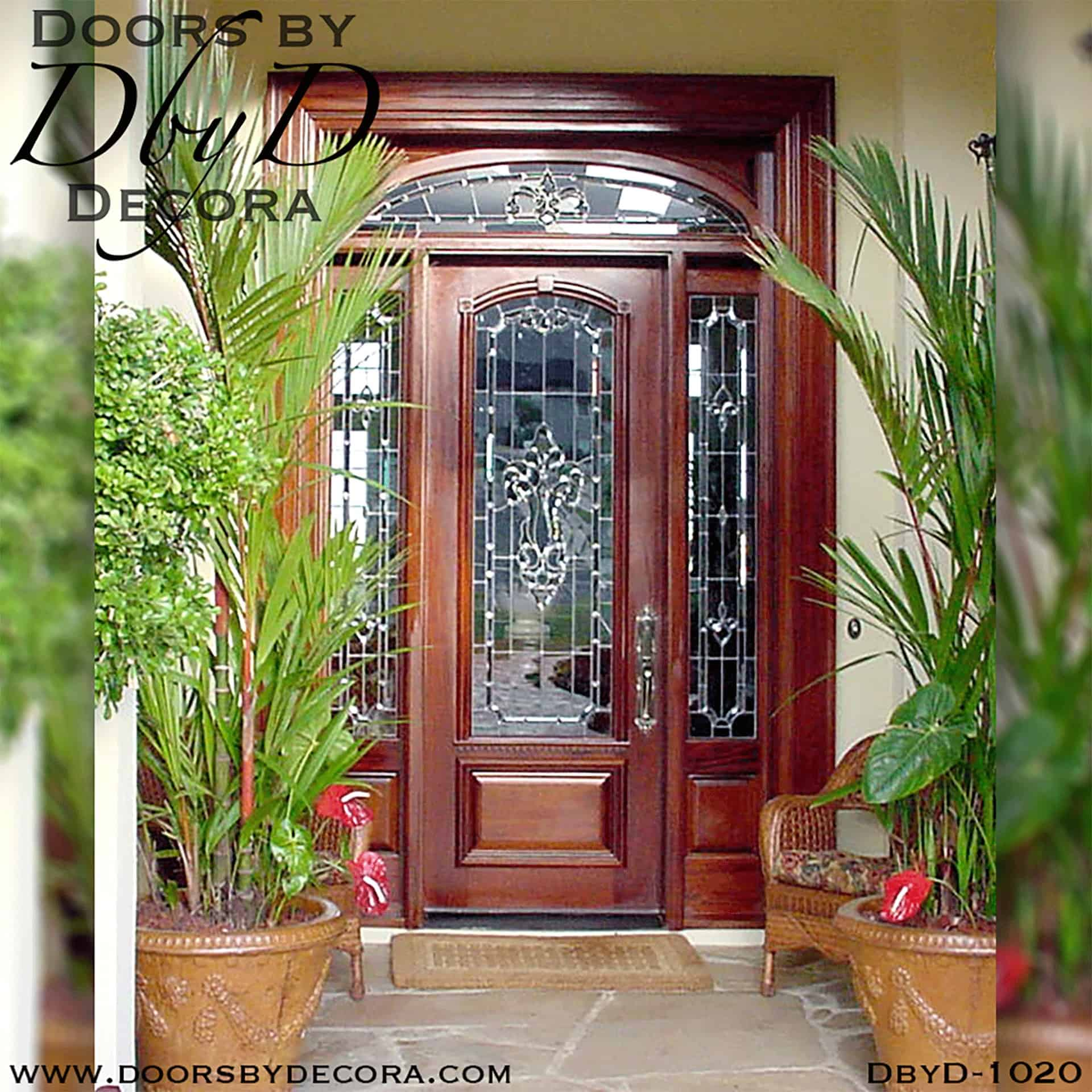 Custom Estate Leaded Glass Front Entry Solid Wood Doors By Decora