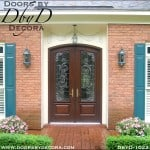 estate leaded glass double entry doors