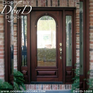 estate beveled glass front entry