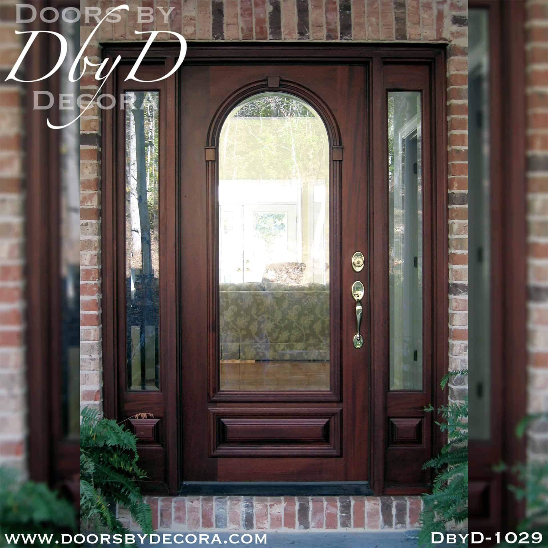 Custom Estate Beveled Glass Front Entry Solid Wood Doors By Decora