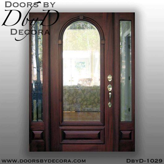 estate beveled glass front entry