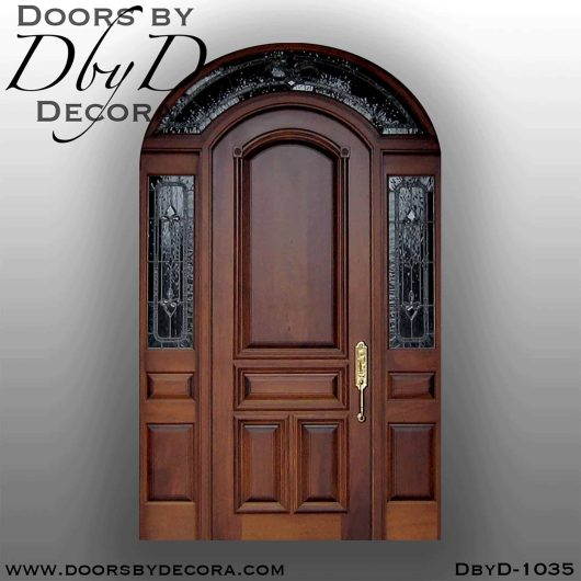 estate exterior wood entry