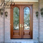 estate leaded glass exterior doors