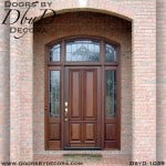 estate mahogany exterior entry