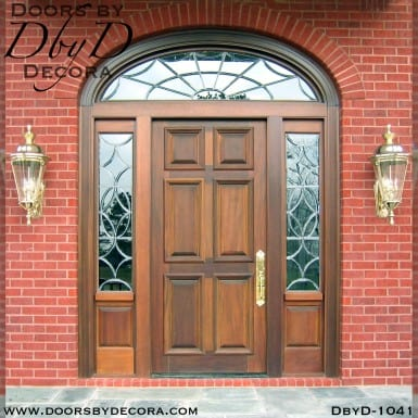 estate mahogany wood entry