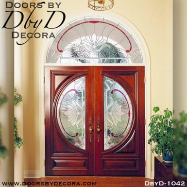 estate double doors with transom