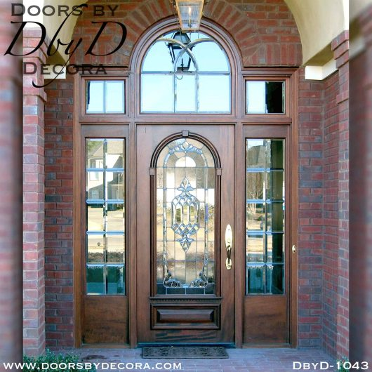 estate wood and glass exterior entry