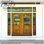 estate custom leaded glass entry