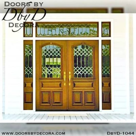 estate custom leaded glass entry