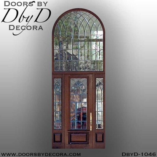 estate exterior leaded glass entry