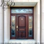 estate mahogany door with leaded glass