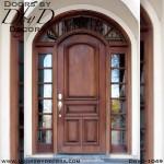 estate solid door with TDL sidelites