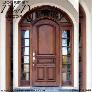 estate solid door with TDL sidelites