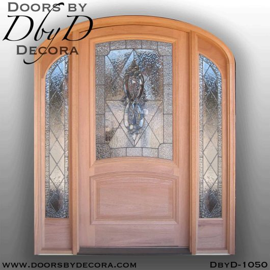 estate leaded glass elliptical entry