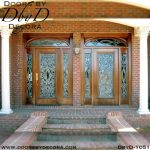 estate leaded glass double entry