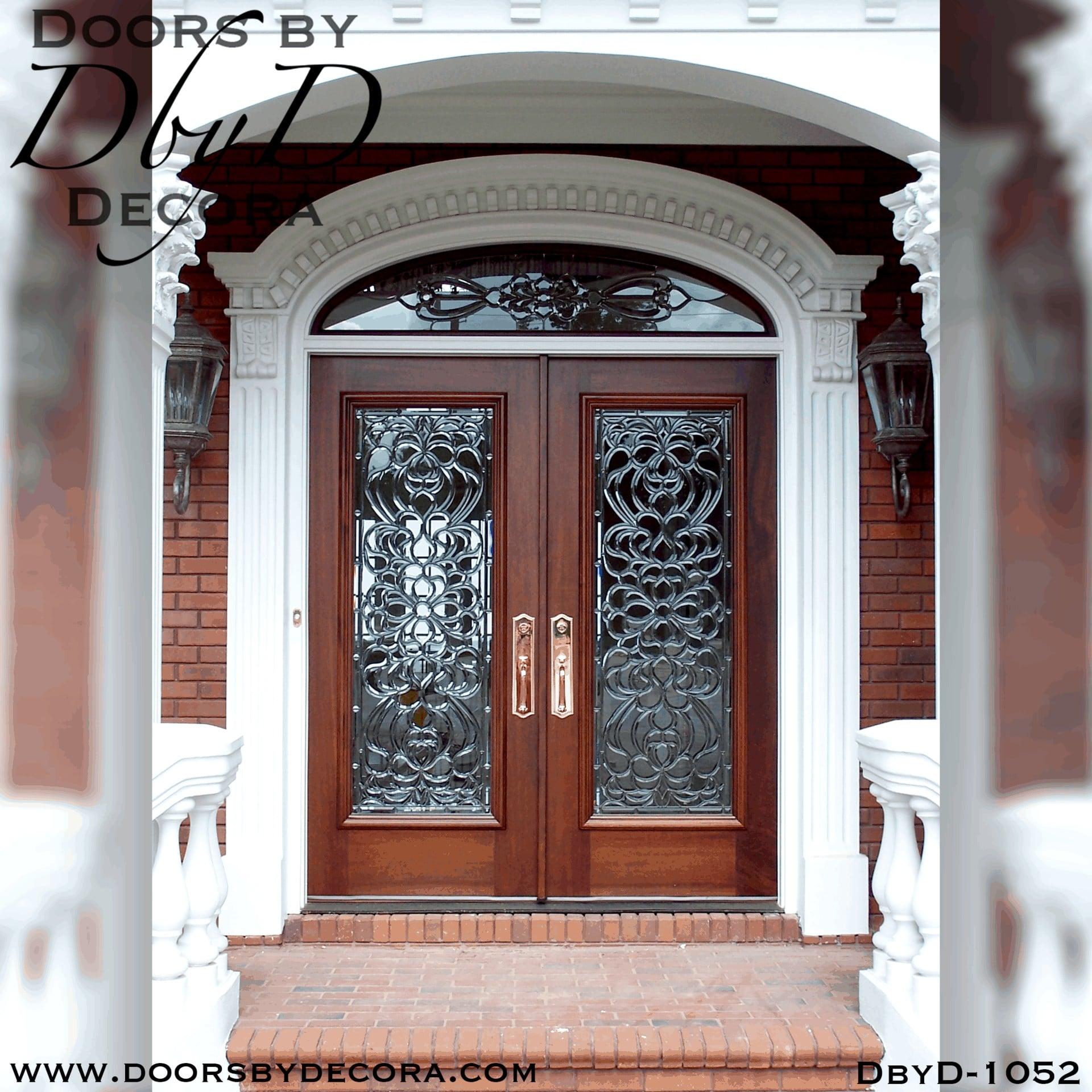 Custom Estate Colonial Leaded Glass Entry Wood Door Doors By Decora
