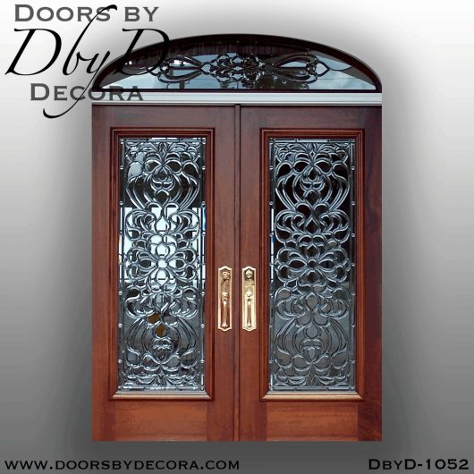 estate colonial leaded glass entry