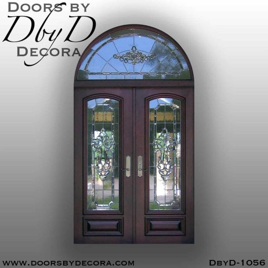 estate double leaded glass doors