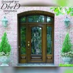 A perfect example of a beautiful estate entrance featuring leaded glass.