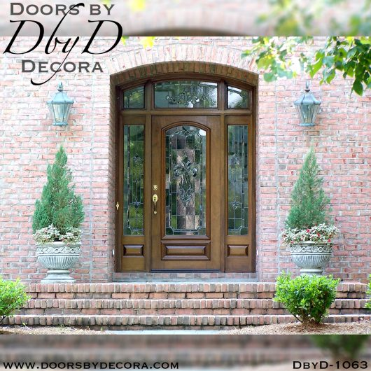 dbyd1063a - estate leaded glass entry unit - Doors by Decora