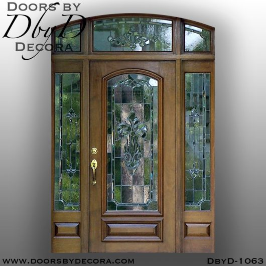 dbyd1063b - estate leaded glass entry unit - Doors by Decora