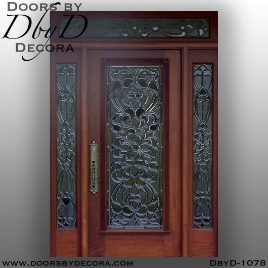 dbyd1078b - estate beveled glass door - Doors by Decora