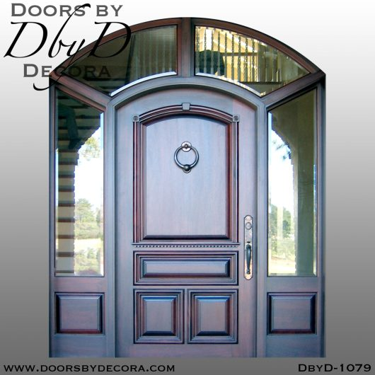 dbyd1079a - estate solid front door and sidelites - Doors by Decora