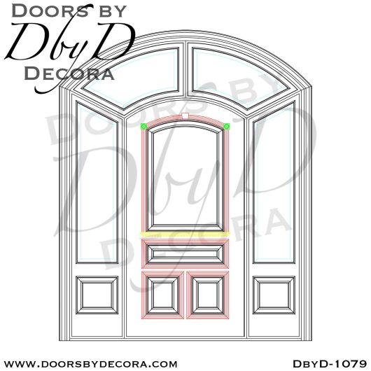 estate solid front door and sidelites
