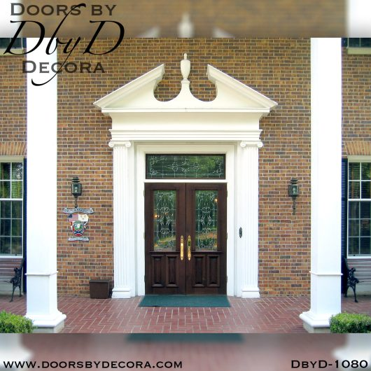 dbyd1080b - estate leaded glass front doors - Doors by Decora