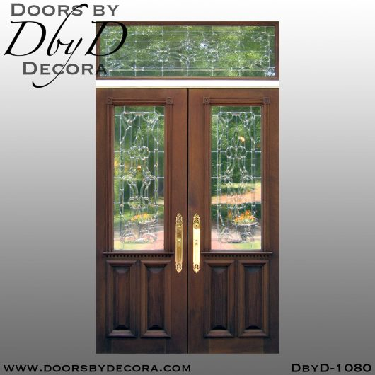 dbyd1080c - estate leaded glass front doors - Doors by Decora