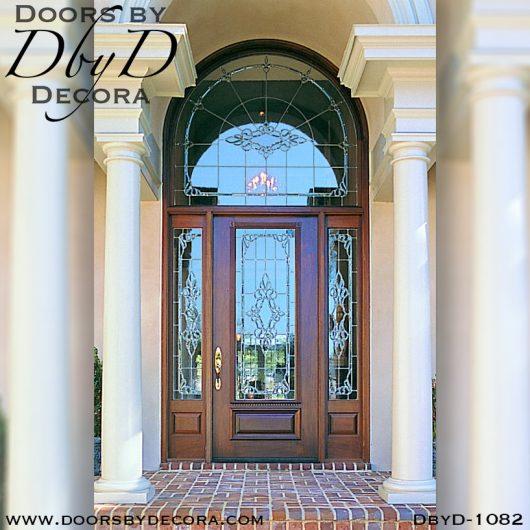 estate front door and radius transom
