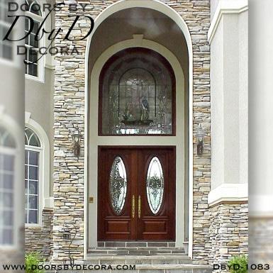 estate doors with heron glass