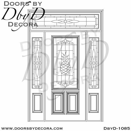estate pineapple glass door