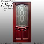 estate leaded glass entry door