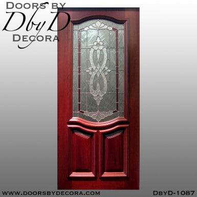 estate leaded glass entry door