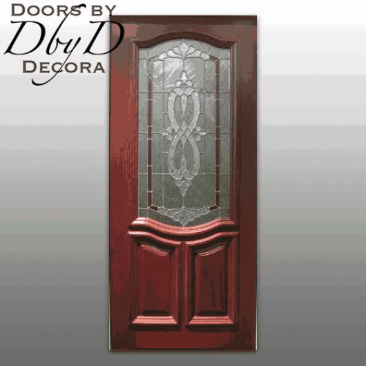 Traditional leaded glass door.