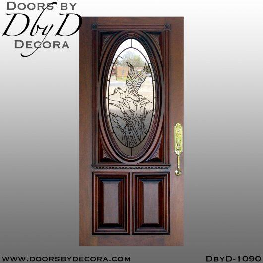 estate leaded glass duck door