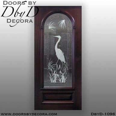 estate etched glass door