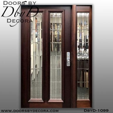 estate 2-lite leaded glass door